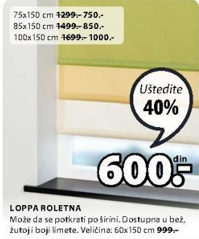 Roletna Loppa 100x150cm