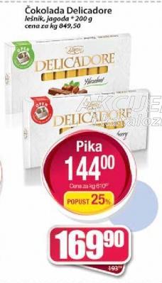 Čokolada Delicadore lešnik
