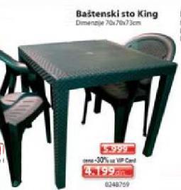 Baštenski sto King