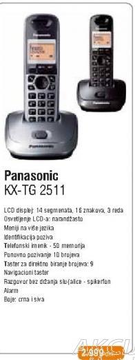 Bežični telefon KX-TG 2511