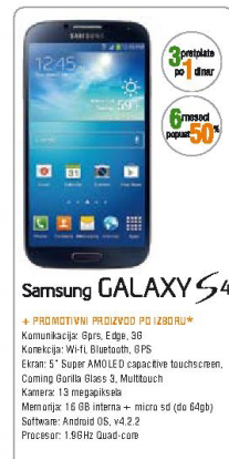 Telefon mobilni Galaxy S4