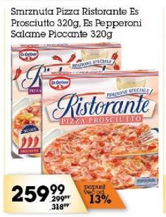 Smrznuta pizza es pepperoni salame piccante