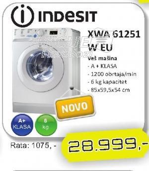 Mašina za veš XWA 61251 W EU