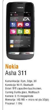 Mobilni telefon Asha 311