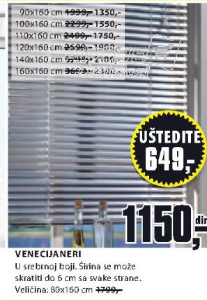 Venecijaneri, 80x160cm