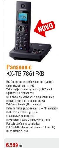 Telefon bežični KX-TG7861FXB