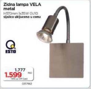 Zidna lampa Vela