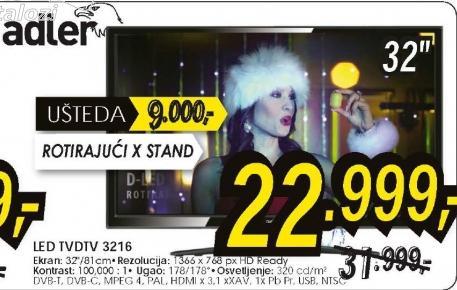 Televizor LED LCD DTV 3216H