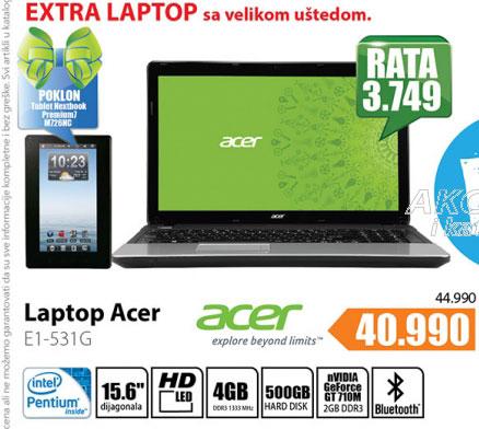 Laptop  E1-531G-20204G50Maks