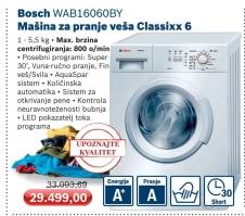 Wab16060By Mašina Za Pranje Veša, Classixx 6
