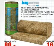 Knauf Staklena mineralna vuna 100mm