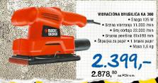 Vibraciona brusilica (hoblerica) KA300, Black & Decker