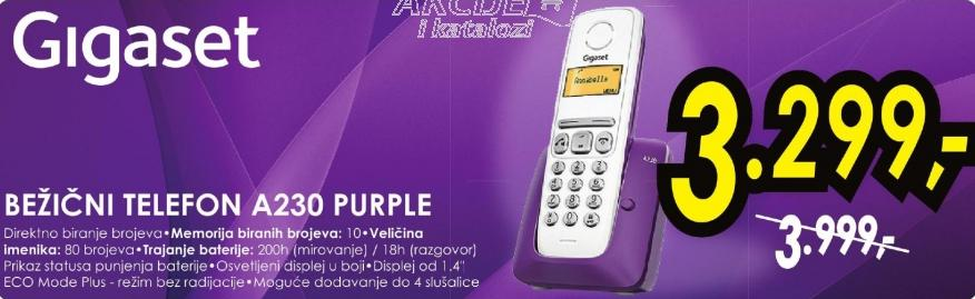 Bezicni telefon Gigaset A230 Purple