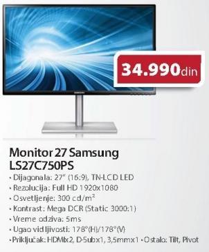 """Monitor LED 27"""" LS27c750ps"""
