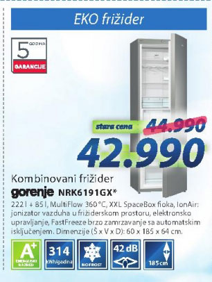 Frižider NRK6191GX