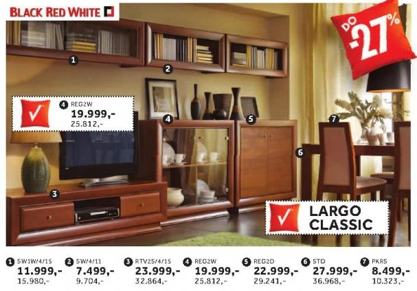 Rtv polica Rtv2s/4/15 Largo Classic Black Red White