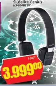Slušalice HS-920BTBK