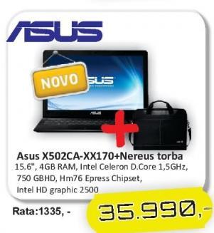 Laptop X502ca-Xx170+ Poklon Nereus torba