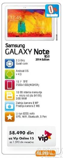 Tablet Galaxy Note 10.1
