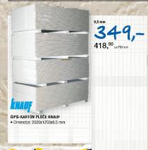 Gips-karton ploče Knauf 9,5mm