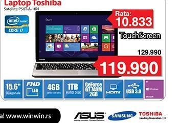 "Laptop P50T-A-10N Win8 15.6"""