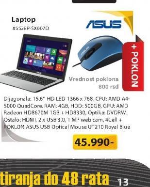 Laptop X552EP-SX007D