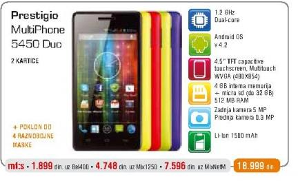 Mobilni telefon 5450 MultiPhone Duo
