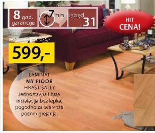 Laminat My floor, Hrast Sally