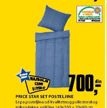 Set posteljine Price Star