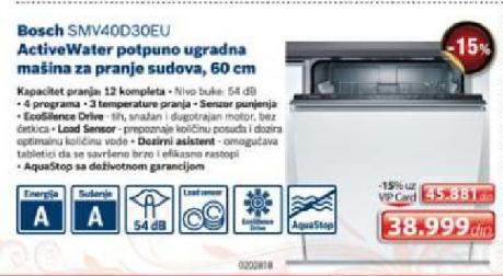 Ugradna Sudomašina Smv40D30Eu