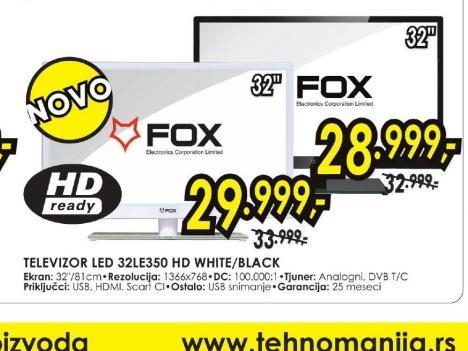 Televizor LED LCD 32LE350 BLACK