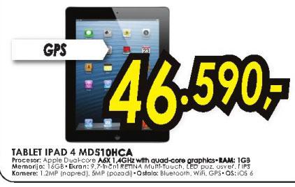 Tablet iPad 4 MD510HC/A