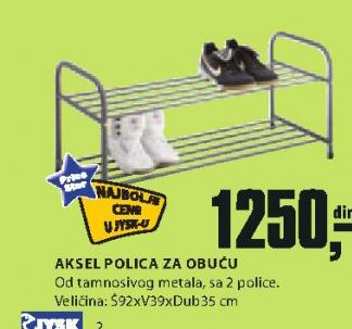 Polica Aksel za obuću