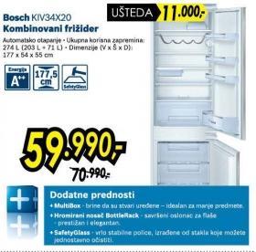 Kombinovani frižider Kiv34x20