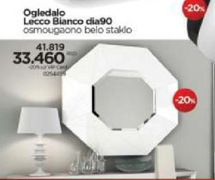 Ogledalo Lecco Bianco dia90