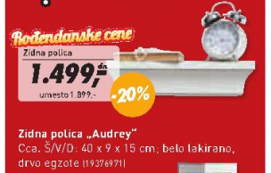 Zidna polica Audrey
