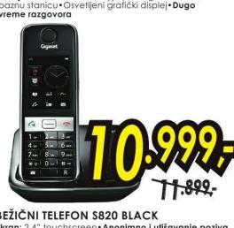 Bežični telefon S820 crni