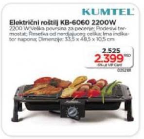 Električni Roštilj KB 6060