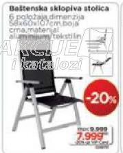 Baštenska sklopiva stolica