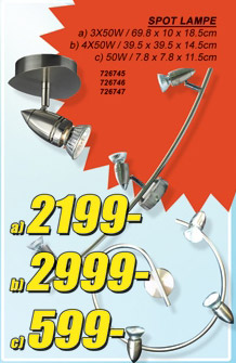 Spot lampa 3x50W