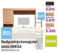 Nadgradnja kompjuter stola Omega, natur