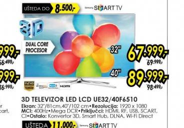 Televizor LED LCD UE-40F6510