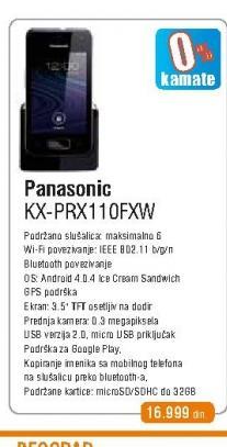 Fiksni telefon  KX-PRX110FXW DECT