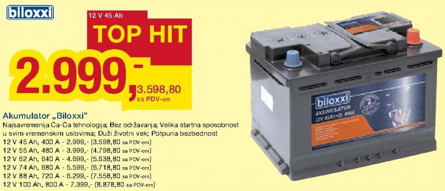 Akumulator 12V 88Ah 720A