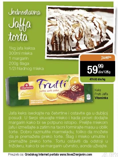 Recept - Jednostavna Jaffa torta
