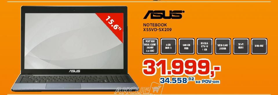 Laptop X55VD SX209