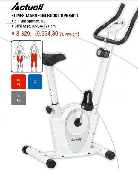 Fitnes magnetni bicikl Actuell Kpr6400