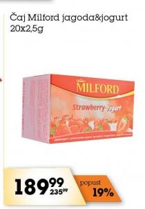 Čaj jagoda i jogurt