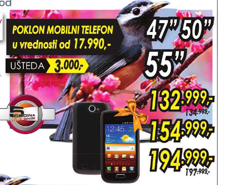 LED Televizor 55 + poklon mobilni telefon