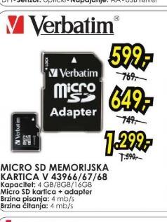 Micro SD memorijska kartica V 43967